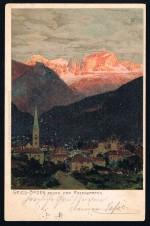 BOZEN GRIES ZENO DIEMER BOLZANO SÜDTIROL GELAUFEN 1901