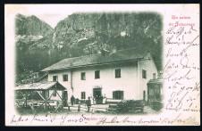 CARTOLINA UN SALUTO DA FALZAREGO ASPIZIO TRENTO VIAGGIATA 1899
