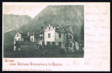 ANSICHTSKARTE EPPAN GRUSS VOM SCHLOSS ZINNENBERG IN EPPAN VIAGGIATA 1899 SÜDTIROL ALTO ADIGE