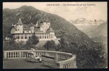 BOZEN GRIES-BOZEN DER REICHRIEGLERHOF AUF DEM GUNTSCHNA SÜDTIROL GELAUFEN 1913