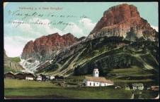 ANSICHTSKARTE COLFUSCHG SASS SONGHER CORVARA ALTO ADIGE SÜDTIROL GELAUFEN 1915