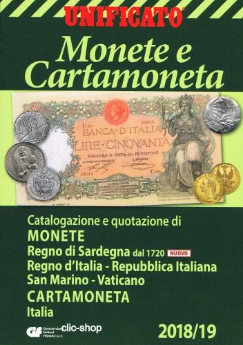 882b4b2c26 Unificato Monete e cartamoneta italiana 2018 - 19