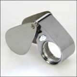 Lente di precisione in metallo con luce·30x