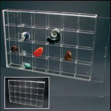 Piccola vetrinetta in acrilico 24 scomparti 56x56x27