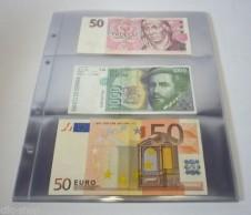 10 fogli  9999-3 per l\'album 4125 - Banconote