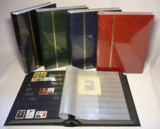 Classificatore nel formato libro 16 facciate nere - Copertina blu