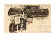 ANSICHTSKARTE BRENNER GRUSS VOM BRENNER ALTO ADIGE SÜDTIROL GELAUFEN 1897