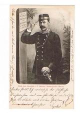 ANSICHTSKARTE MERAN F. BEHRENS PORTRAITMALER MERANO ALTO ADIGE GELAUFEN 1898