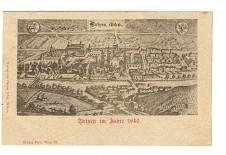 ANSICHTSKARTE BRIXEN IM JAHRE 1640 BRESSANONE ALTO ADIGE SÜDTIROL GELAUFEN 1898