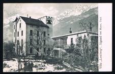 ANSICHTSKARTE ALGUND VILLA LEMBERG MERAN SÜDTIROL 1912