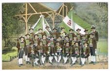 ANSICHTSKARTE KORTSCH SCHÜTZEN VON KORTSCH GÖFLAN BEI SCHLANDERS 1906
