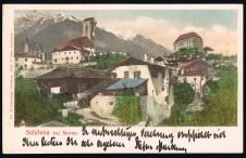 ANSICHTSKARTE SCHENNA SCHÖNNA BEI MERAN SÜDTIROL ALTO ADIGE GELAUFEN 1901